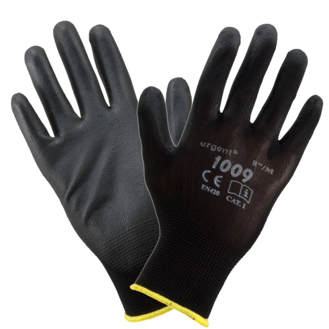 24 pairs of strong coated latex work gloves grade 1